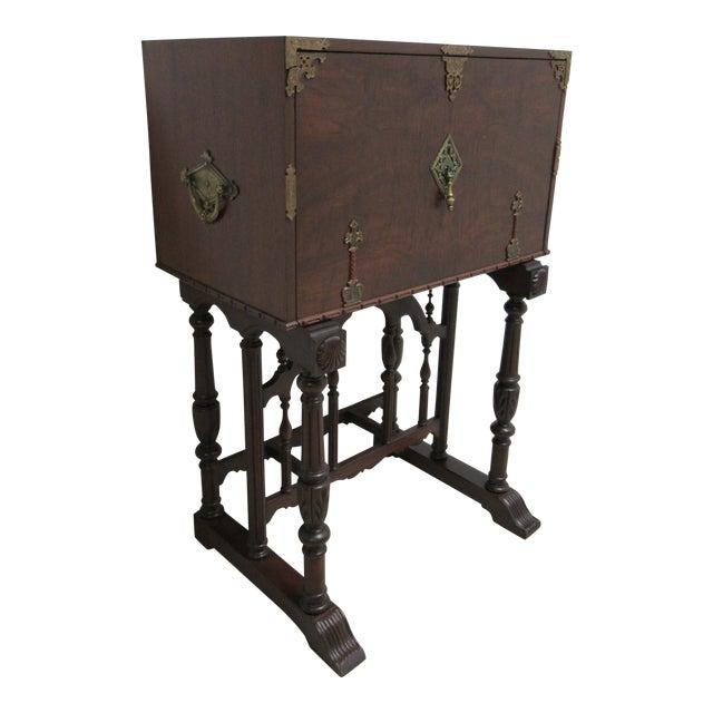 Antique Spanish Renaissance Drop Front Gothic Writing Desk For Sale