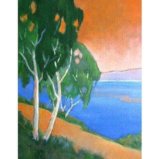 California Landscape Monterey Bay Eucalyptus Painting For Sale