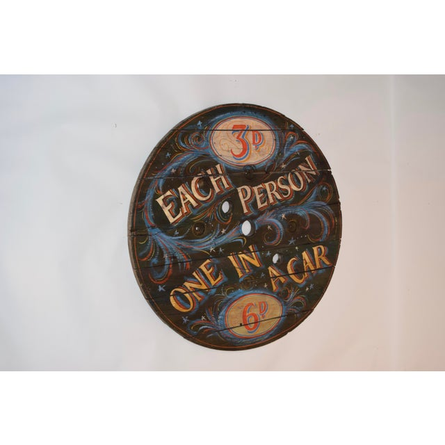 20th C English Decorated Spool Sign For Sale - Image 4 of 5