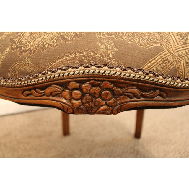 Vintage French Carved Ladies Fauteuil Arm Chair - Image 10 of 11