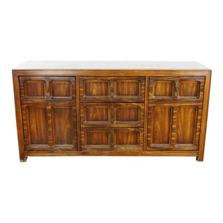 Autumn Pecan Finish Wooden Sideboard For Sale