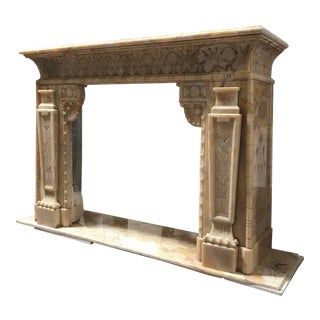 Antique Honey Onyx Mantel, circa 1850