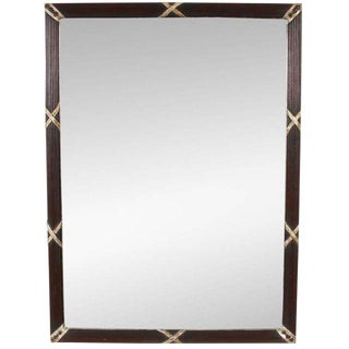 Mahogany & Silver Gilt Beveled Mirror
