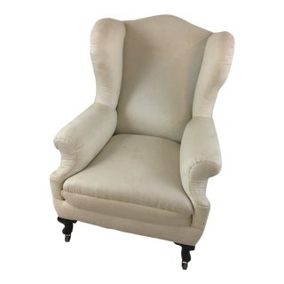 Rustic Antique Wingback Chair For Sale