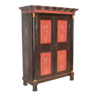 Antique Hand Painted Italian Armoire For Sale