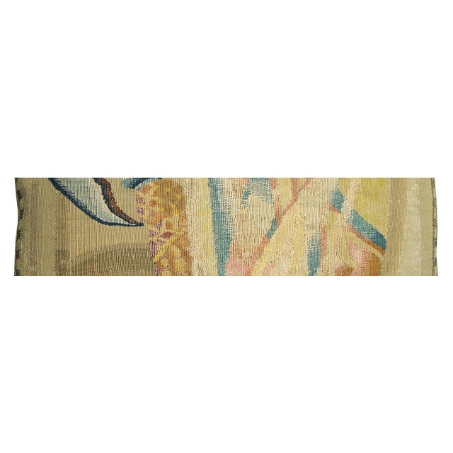 17th Century Antique Brussels Tapestry Pillow For Sale - Image 4 of 6