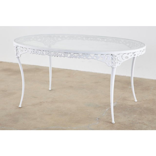 Brown Jordan Neoclassical Style Aluminum Garden Dining Set For Sale In San Francisco - Image 6 of 13