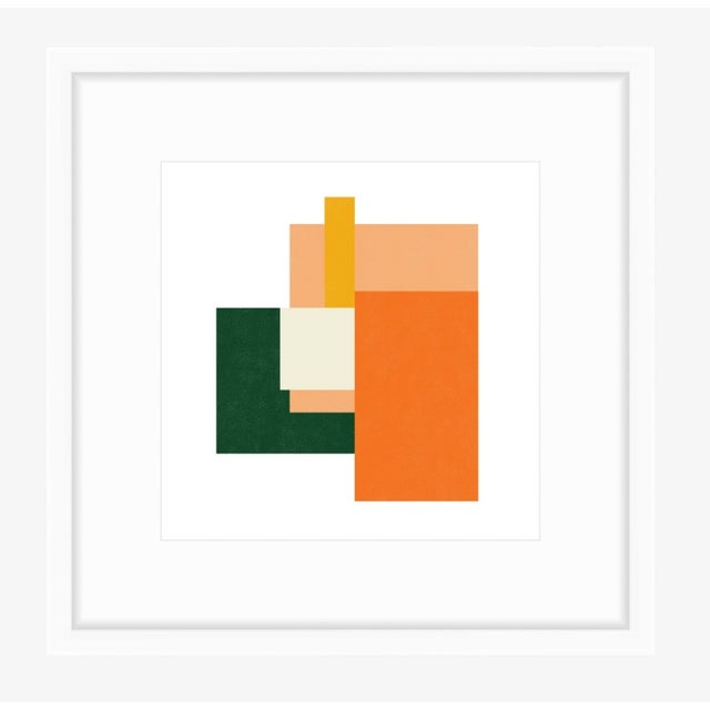 "Contemporary Color Array 2: Peach, Forest, Tangerine, Ivory, Gold, New Media Print by Jessica Poundstone, 10"" X 10"" For Sale - Image 3 of 4"