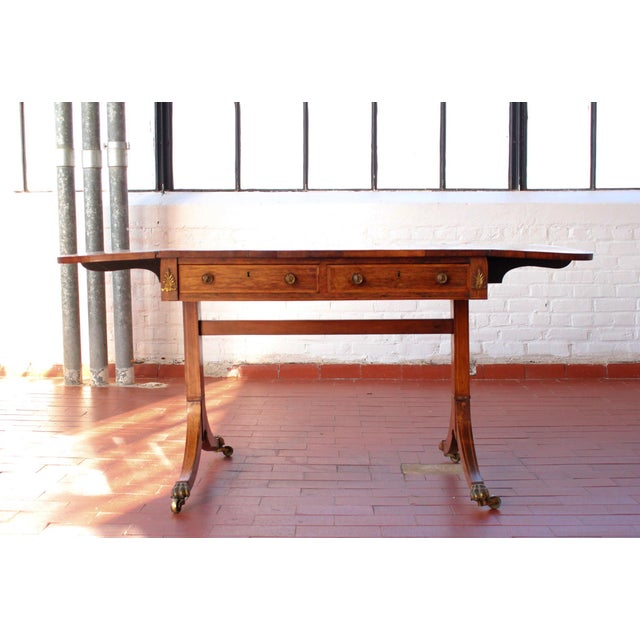Antique Victorian Rosewood Writer's Desk For Sale - Image 13 of 13