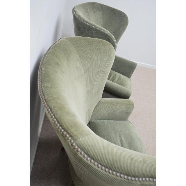Ralph Lauren Pair Ralph Lauren Upholstered Arm Chairs For Sale - Image 4 of 11