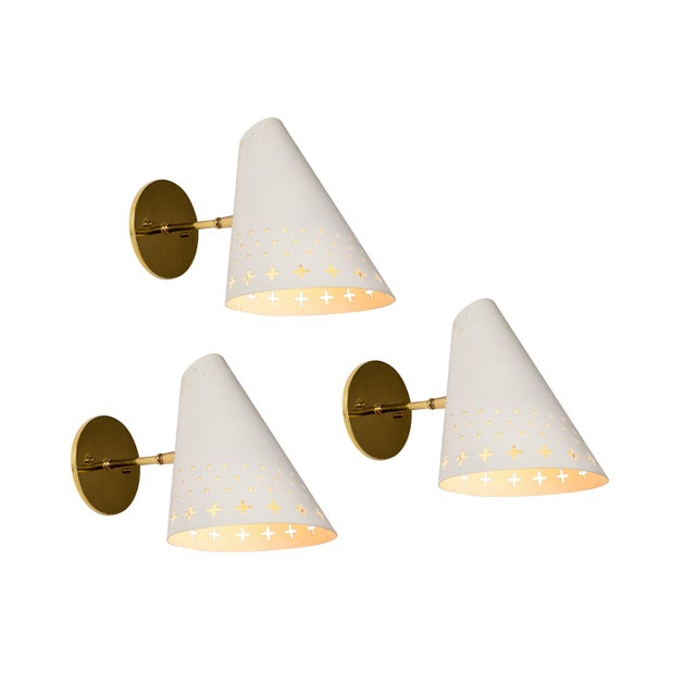1950s Danish Perforated Sconces Attributed to Bent Karlby - a Pair For Sale - Image 12 of 13