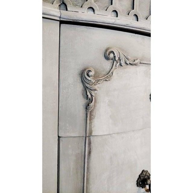 French Rococo Gray Mahogany Demi-Lune Commode - Image 4 of 9