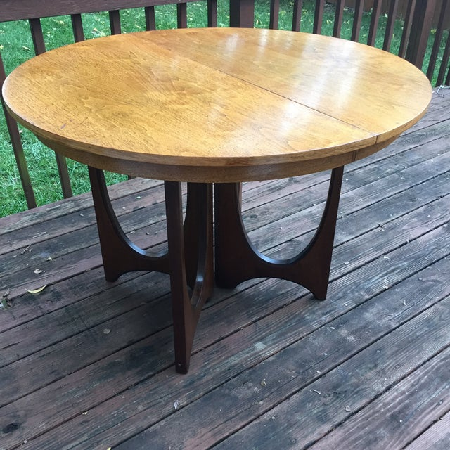 Broyhill Brasilia Dining Table, with extra leaf. One of the most popular lines of the mid century era. This classic...