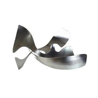Jack Arnold Abstract Modernist Biomorphic Stainless Steel Sculpture