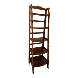 Country French Style Cherry Etegere With 5 Graduated Shelves For Sale