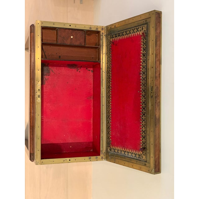 Antique Wooden Box on Custom-Made Stand For Sale - Image 11 of 13