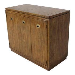 1970s Mid-Century Modern Flip Top Fruitwood Server For Sale