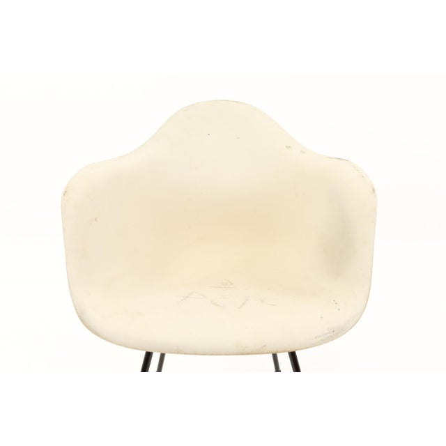 Mid 20th Century Eames for Herman Miller Mid Century Molded Plastic X-Base Shell Chairs - a Pair For Sale - Image 5 of 11