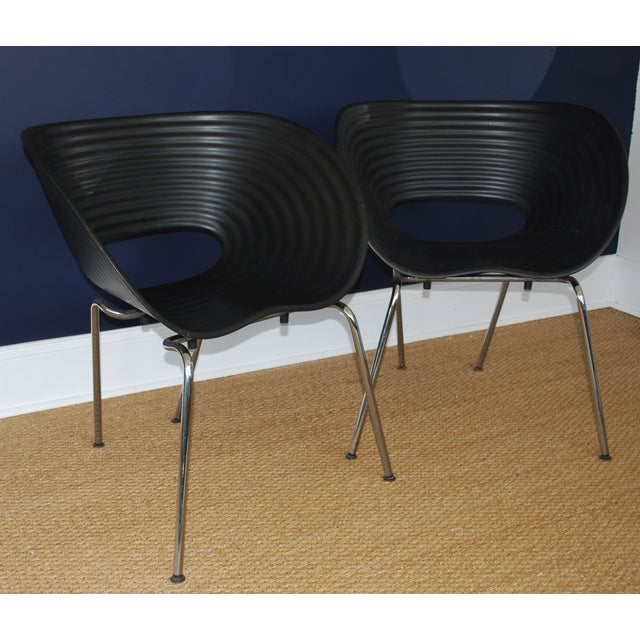 Iconic Black Tom Vac Chairs - Pair - Image 2 of 6