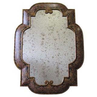 Mediterranean Style Embossed Mirror For Sale