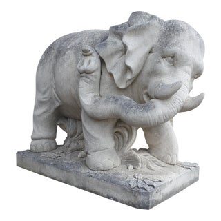 Pair of Stone Elephants by Talisman For Sale