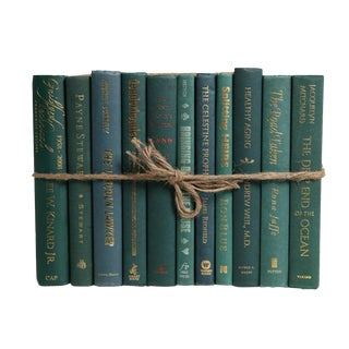 Modern Forest ColorPak : Decorative Books in Shades of Dark Green For Sale