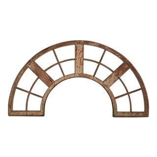 Large Wood Arched Window