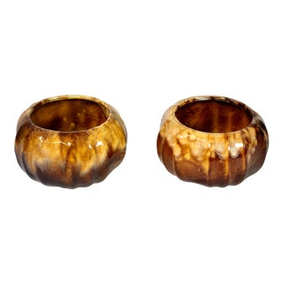 1960's California Glazed Studio Pottery Planters - a Pair For Sale