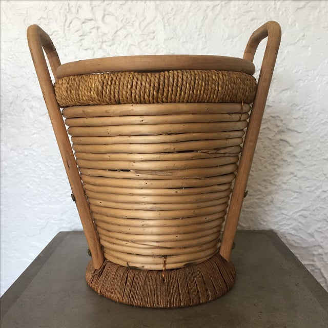 1970s Rattan Bucket - Image 2 of 9