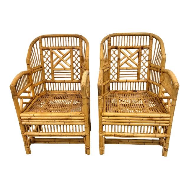 Superb 1970S Vintage Rattan Bamboo Brighton Style Chairs A Pair Download Free Architecture Designs Rallybritishbridgeorg