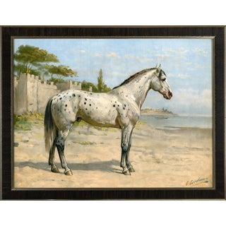 Turkish Horse by Eerelman Framed in Italian Wood Vener Moulding For Sale