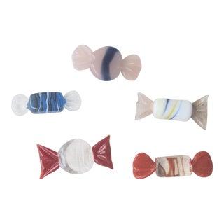 Italian Murano Glass Candies - Set of 5