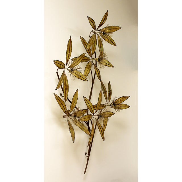 Contemporary Contemporary Modern Rare Curtis Jere Brass Wall Sculpture Flowers Pom Pom For Sale - Image 3 of 9