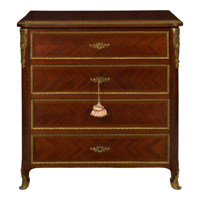19th Century French Antique Dressing Table Commode Chest of Drawers For Sale