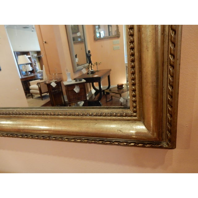 19th C. French Gold Leaf Mirror For Sale - Image 4 of 7