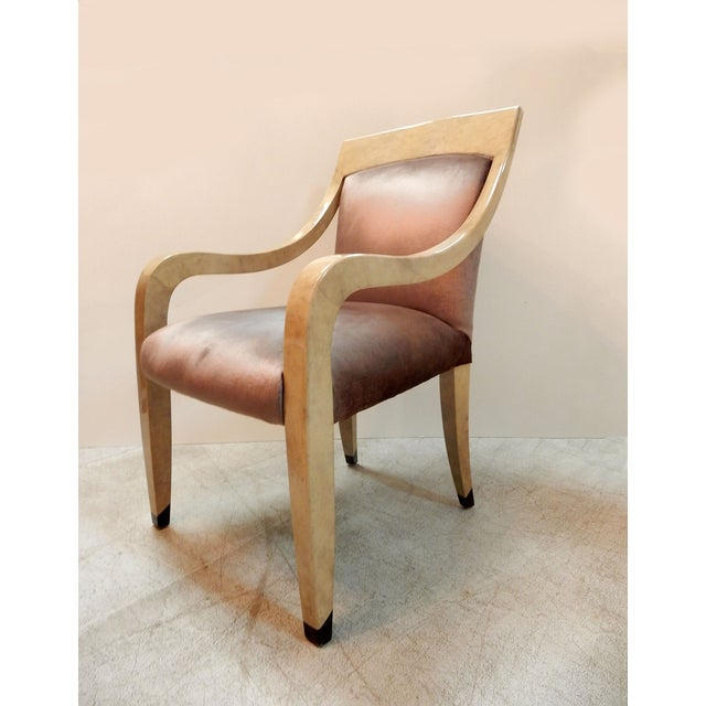 Donghia Goatskin Arm Chairs - Pair - Image 6 of 7