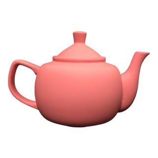 Bubblegum Pink Ceramic Teapot For Sale