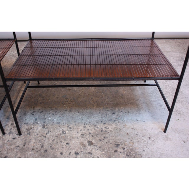 Pair of Paul McCobb 'Planner Group' Iron and Maple Occasional Tables For Sale - Image 10 of 13