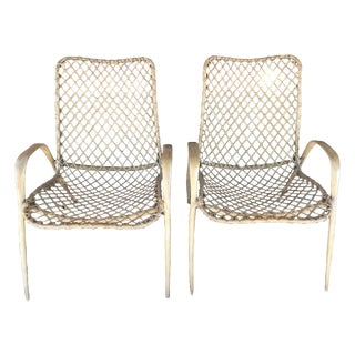 Pair of Translucent Fiberglass Chairs, circa 1950s For Sale