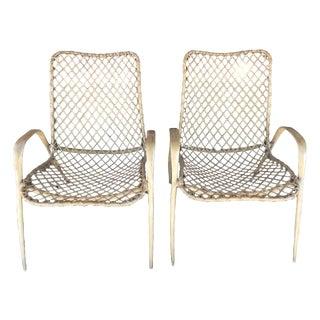 Pair of Translucent Fiberglass Chairs, circa 1950s