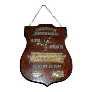 Early 20th Century Relay Trophy Plaque For Sale