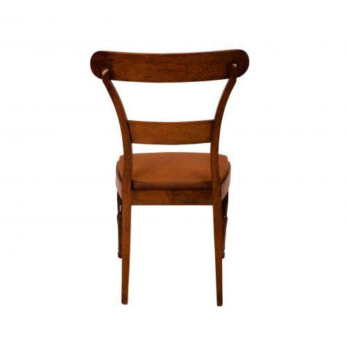 Walnut Neoclassical Side Chairs - A Pair For Sale - Image 5 of 7