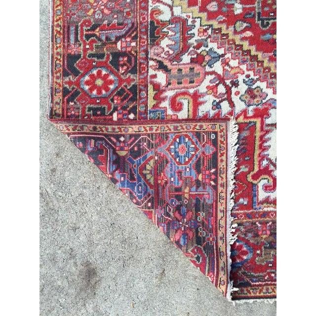"""Antique Persian Heriz Rug - 7'8"""" x 11'3"""" - Image 6 of 6"""
