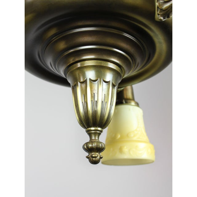 Glass Antique Sheffield Light Fixture (3-Light) For Sale - Image 7 of 10