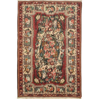 Pasargad Persian Bakhtiari Semi-Antique Hand Knotted Area Rug - 5′4″ × 8′ For Sale