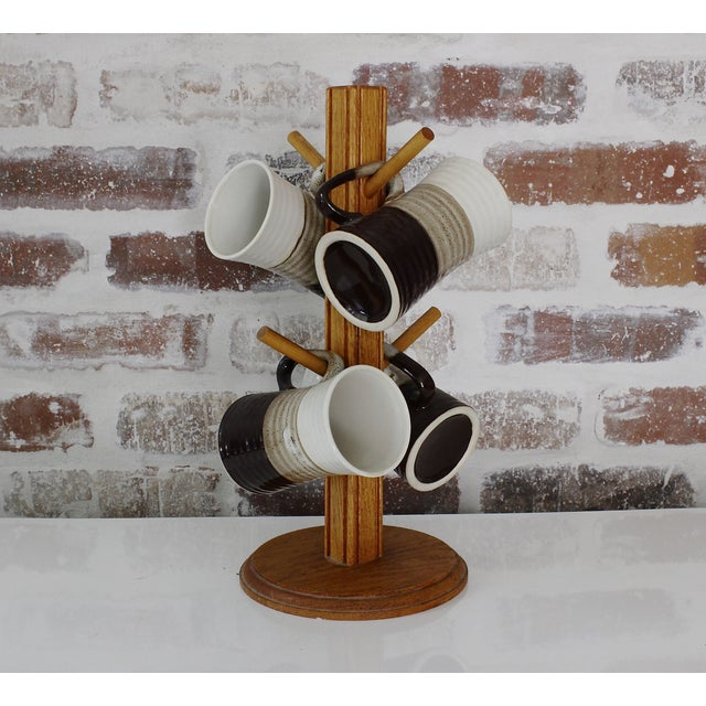 Stoneware 70's Coffee Mugs - Set of 5 - Image 2 of 4