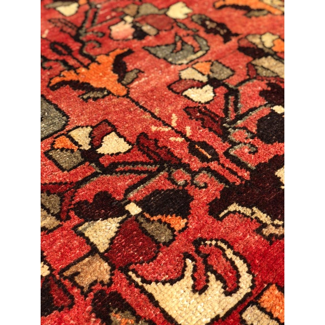 """1960's Vintage Persian Hamadan Thick & Heavy Runner 3'3""""x9'4"""" For Sale - Image 9 of 13"""