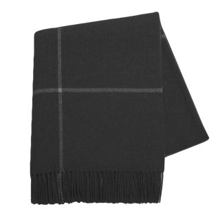 Onyx Windowpane Cashmere Throw For Sale