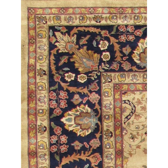 Contemporary Pasargad Peacock Throne Sarouk Area Rug - 7' X 7' For Sale - Image 3 of 3