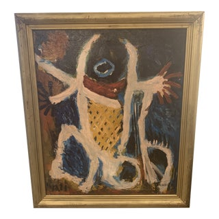 1980s Vintage French Oil Painting For Sale